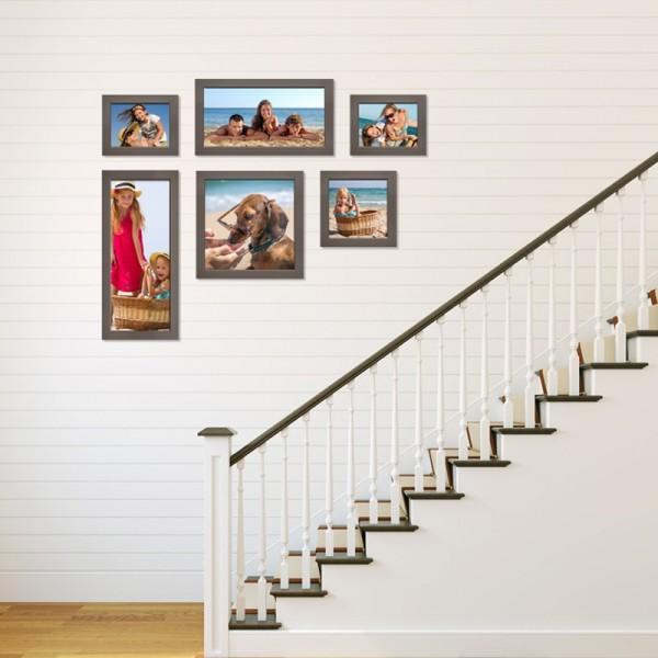 mur de cadres cosy gallery escalier. Black Bedroom Furniture Sets. Home Design Ideas