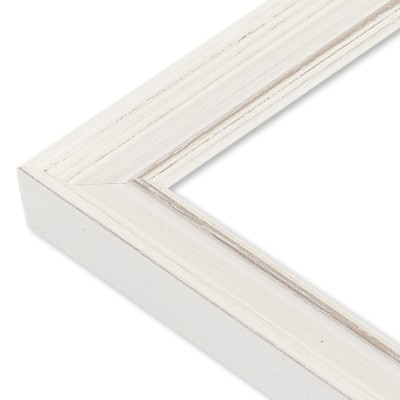 CADRE PATINE BLANC ANGLE