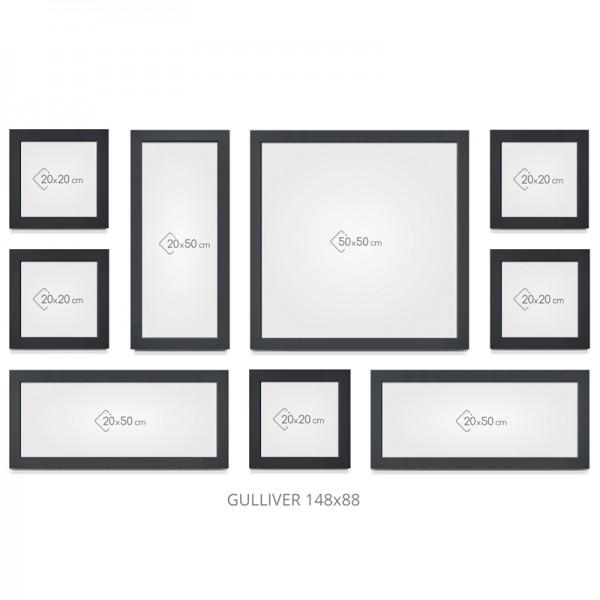 mur de cadres cosy gallery gulliver. Black Bedroom Furniture Sets. Home Design Ideas