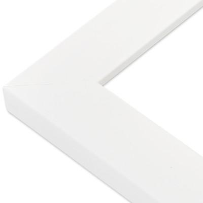 CADRE PLAT SATIN BLANC Angle