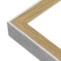 Cadre bois et argent finition chene Angle