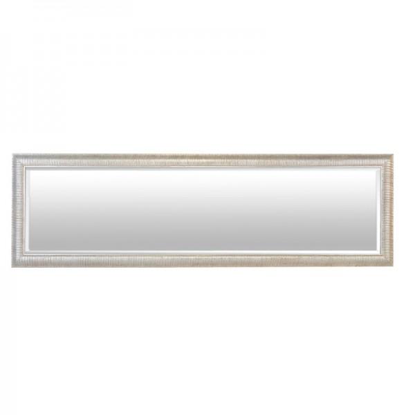 Grand miroir argent stri for Miroir gris argent