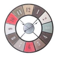 Grande horloge métal coloré