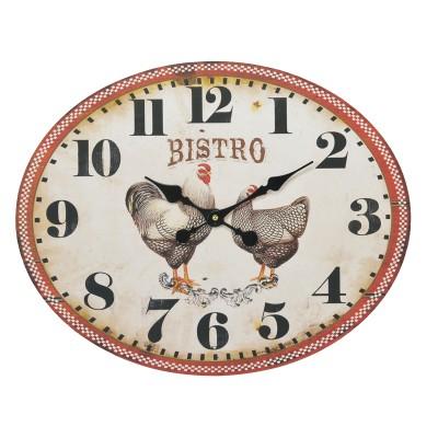 Horloge poules 39x49cm