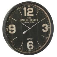 Horloge métal noir vieilli