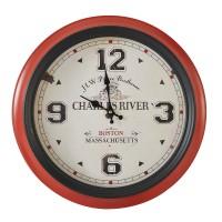 Horloge rouge & noire DE FACE