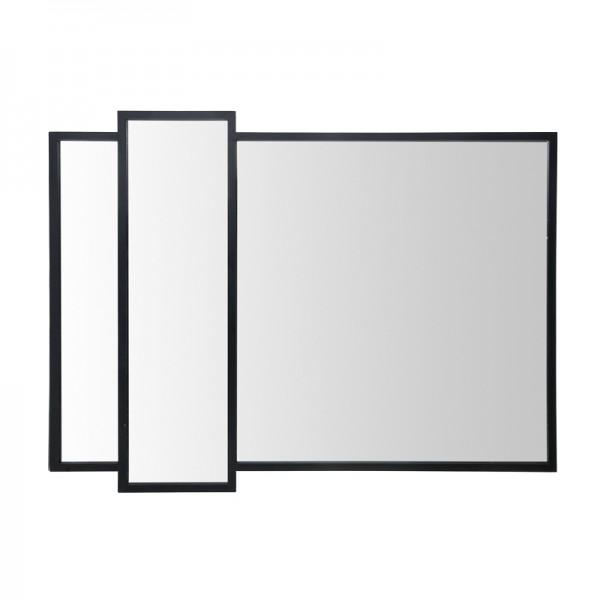 Miroir m tal noir eddy 97x125 for Miroir rectangulaire noir