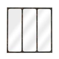 Miroir fenêtre métal