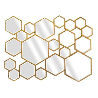 Miroir d co hexagones dor - Miroir design leroy merlin ...