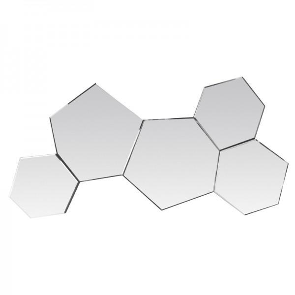 miroir d co hexagones contour argent. Black Bedroom Furniture Sets. Home Design Ideas
