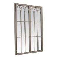 Miroir fenêtre ALBERT gris - portes fermées