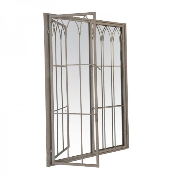 Miroir fen tre gris - Miroir agrandir piece ...