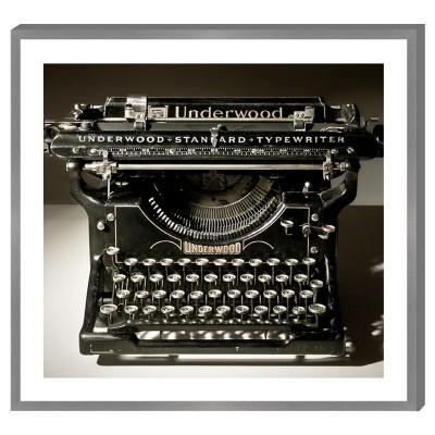 Cadre déco MACHINE à écrire UNDERWOOD