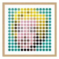 Cadre déco MARILYN ronds colorés
