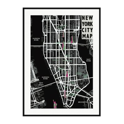Cadre déco NYC MAP