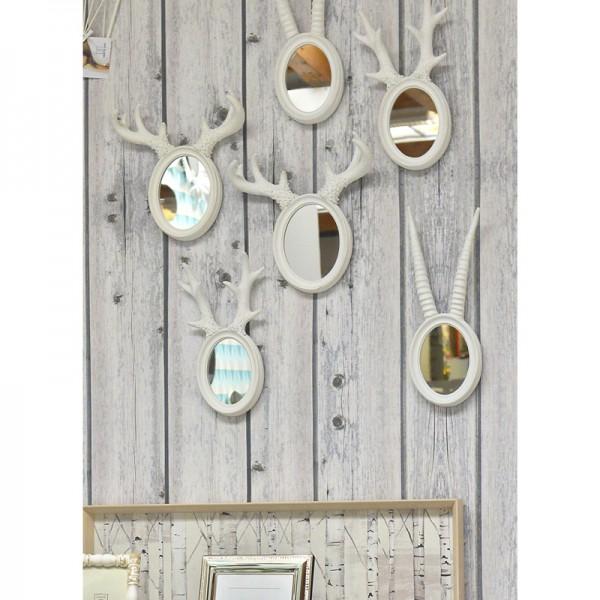 Petit miroir d co cerf blanc for Petit miroir original