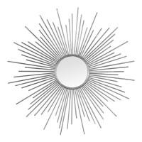 Miroir soleil tiges argentées