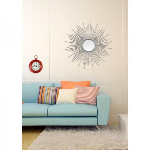 miroir soleil xl argent. Black Bedroom Furniture Sets. Home Design Ideas
