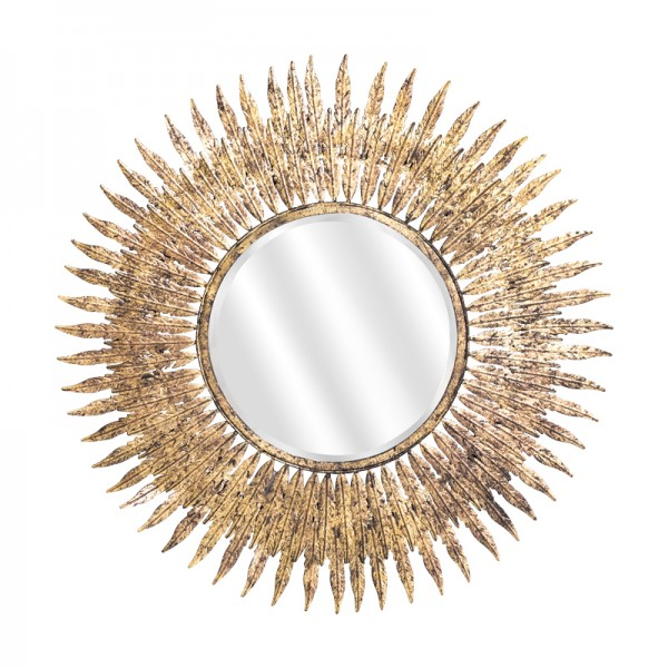Miroir soleil plumes 2 for Miroir design soleil