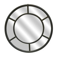 Miroirs fen tre et ateliers classiques et industriel m tal for Miroir rond noir