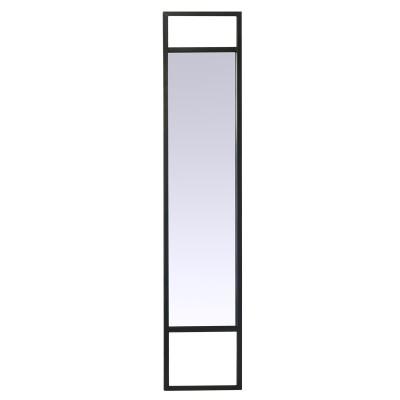 Miroir métal noir filaire - de face