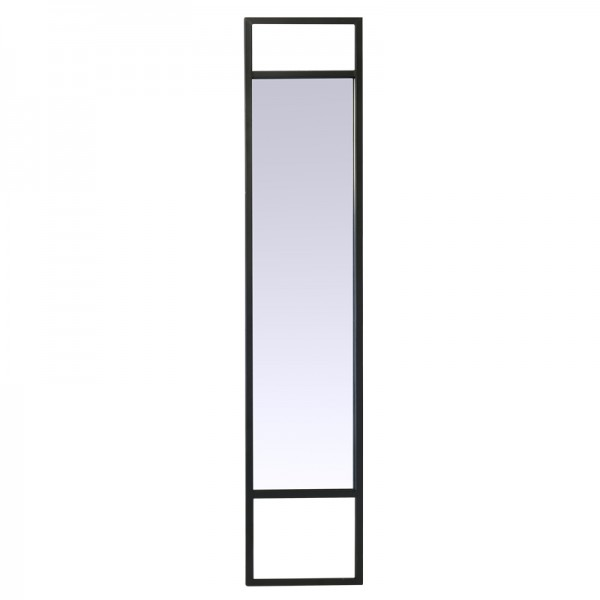Miroir m tal long noir for Miroir long bois