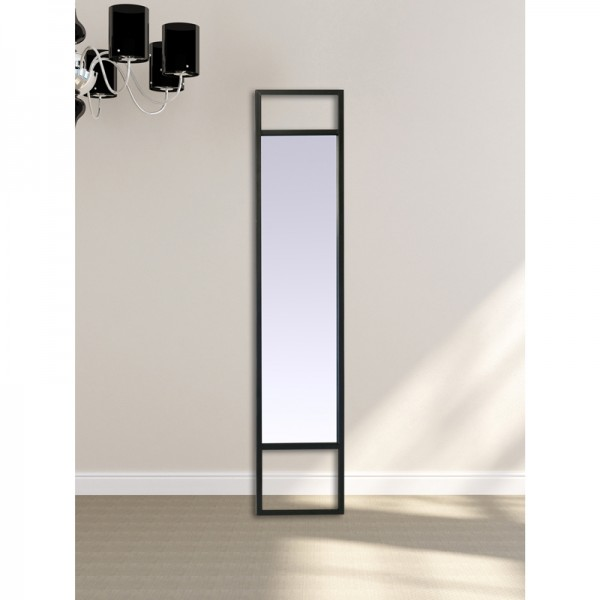 Miroir m tal long noir for Miroir en long