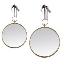 Miroir rond RUBAN gris 20cm et 30cm