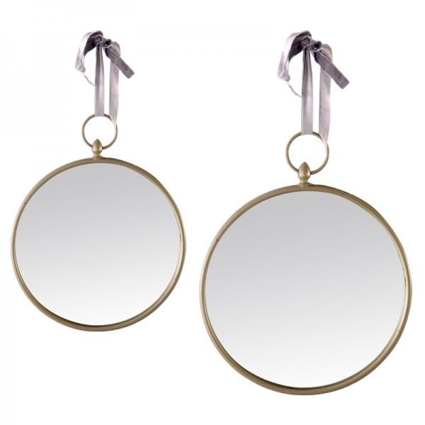 Miroir rond gris suspendre - Miroir rond a suspendre ...