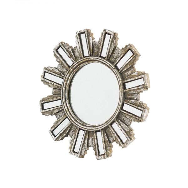 Miroir soleil trio argent for Miroir rond forme soleil