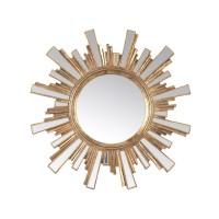 Miroir soleil doré 2