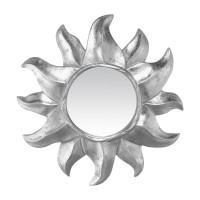 Miroir soleil ARGENT - de face