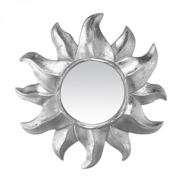 Miroir soleil argent for Miroir gris argent