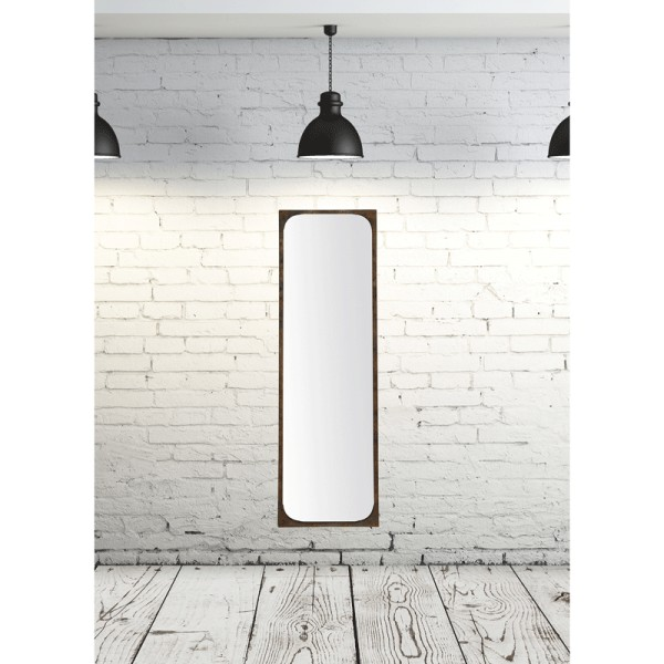 Miroir a fixer au mur max min for Grand miroir long