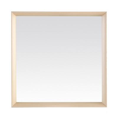 Miroir bois blanchi for Miroir cadre bois blanc