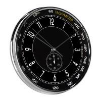 Horloge MONTRE noire et chrome