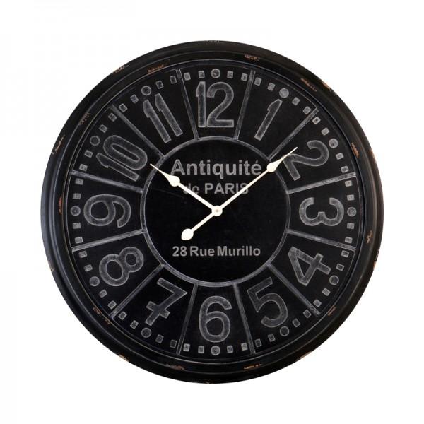 grande horloge noire antiquit. Black Bedroom Furniture Sets. Home Design Ideas