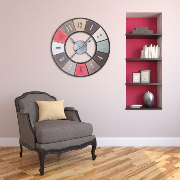 horloge m tal color. Black Bedroom Furniture Sets. Home Design Ideas