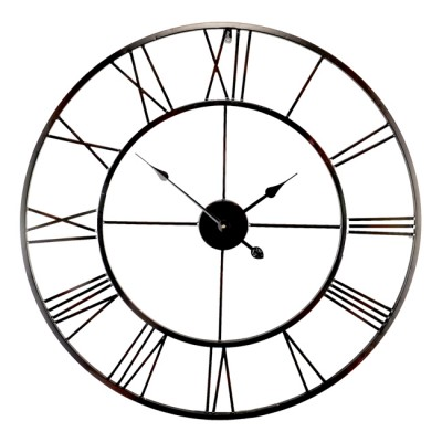 Horloge Métal Noire diamètre 80cm
