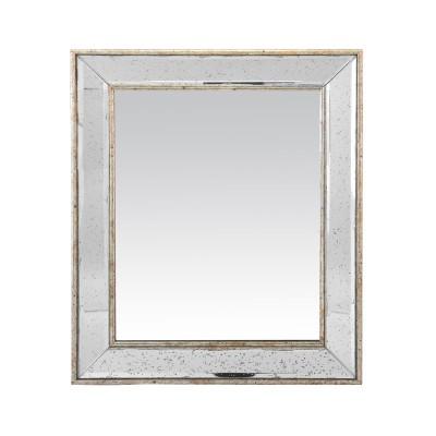 Miroir v nitien carr for Miroir carre blanc