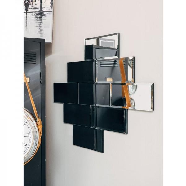 ... Grand Miroir Au Style Industriel Ressemblant à Un Mur De Briques ...