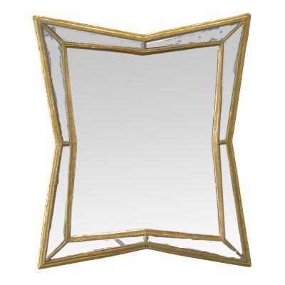 Miroir Vénitien Verre, miroir chic, miroir doré, petit miroir, miroir en verre