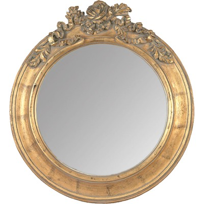 Miroir dor roses g for Miroir rond dore