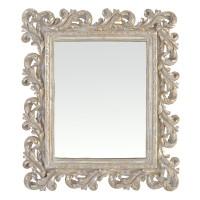 Ancien miroir style baroque, miroir cadre argenté