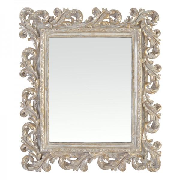 Miroir cadre baroque for Grand miroir baroque argente