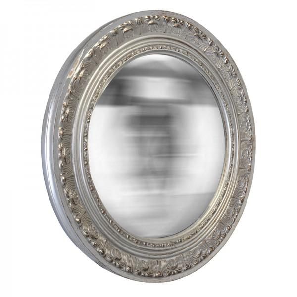 miroir rond cisel argent. Black Bedroom Furniture Sets. Home Design Ideas