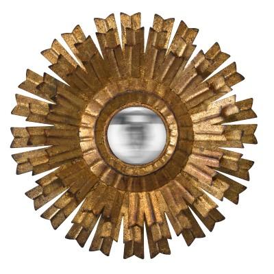 Miroir Soleil Fleur, miroir soleil, miroir doré, petit miroir, petit miroir doré, petit miroir soleil