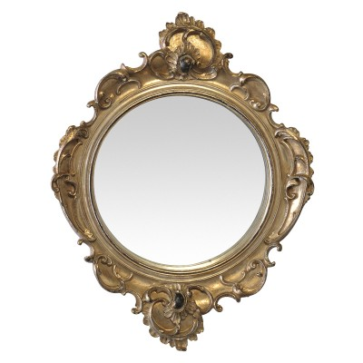 Miroir doré ancien style baroque