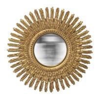 Miroir soleil doré avec ses rayons en cristaux