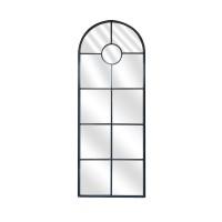 Miroir Fenêtre Métal Arrondi, miroir fenêtre, miroir métal, miroir en métal, grand miroir, grand miroir fenêtre,